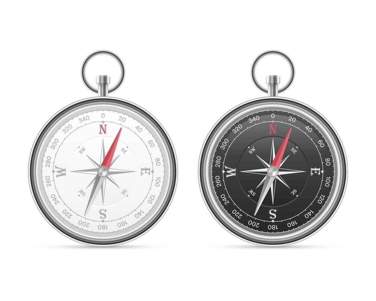 magnetisk kompass isolerad vektor