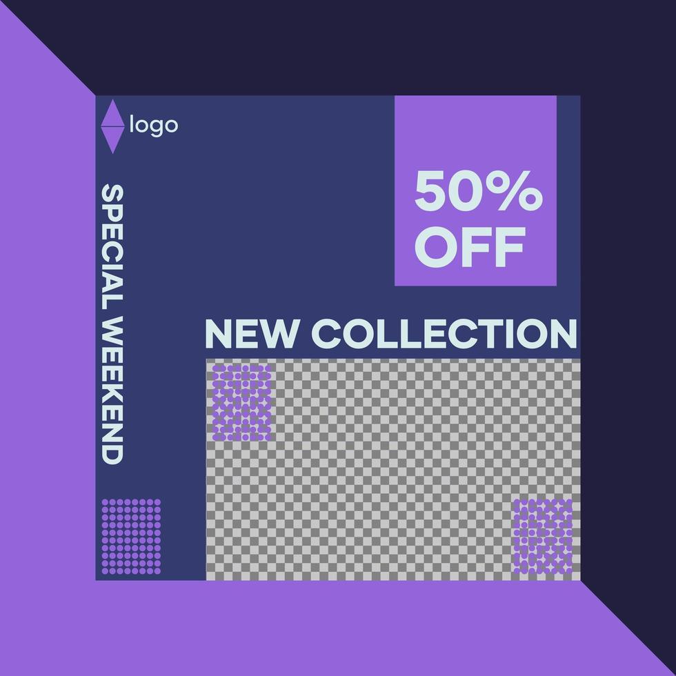 sociala medier post mall design vektor