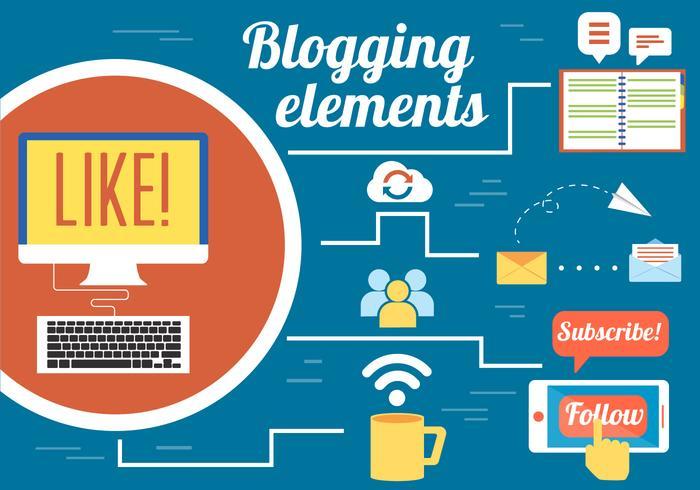 Gratis Blogging Vector Design