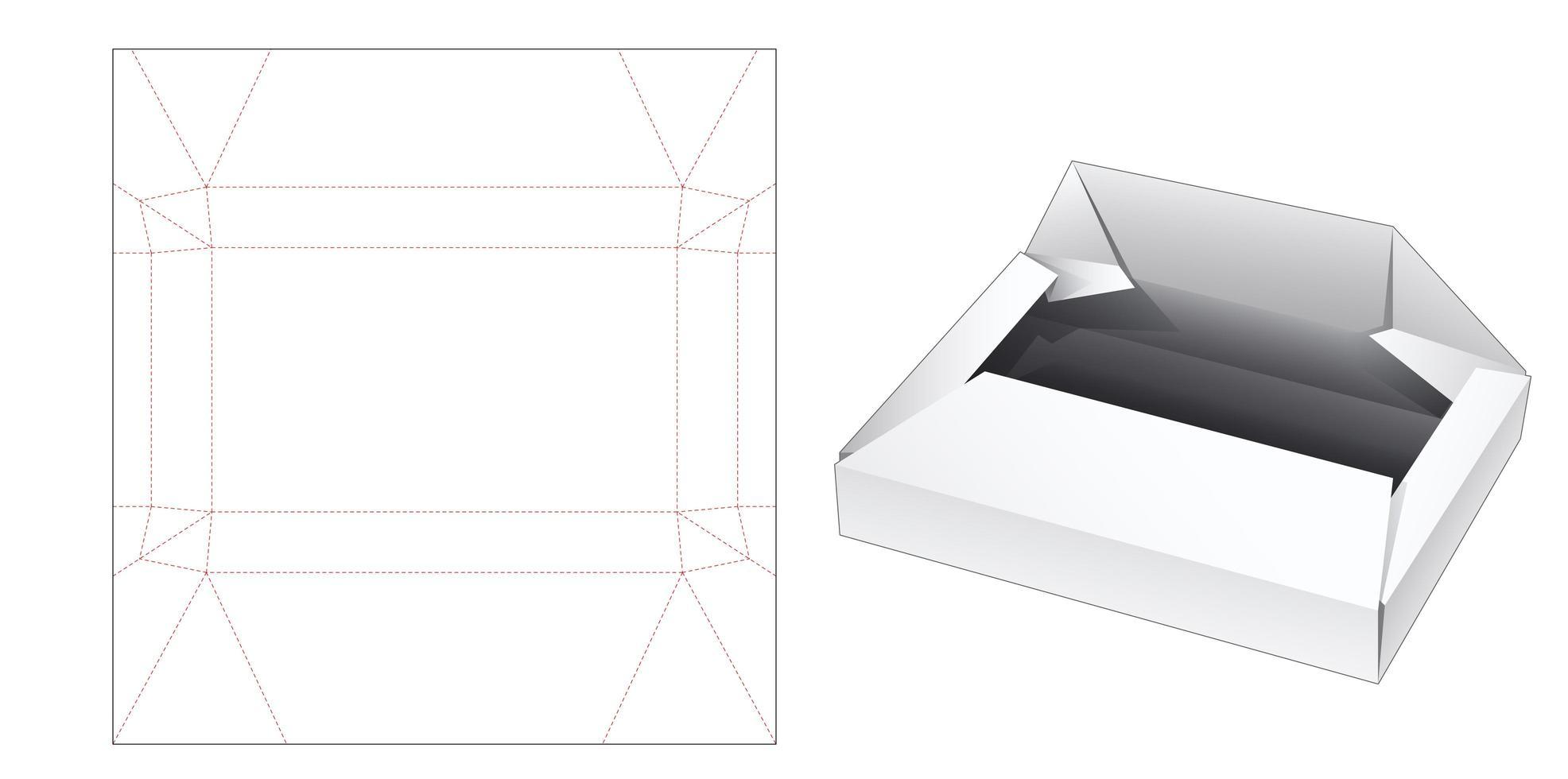 Geschenkpapierbox vektor
