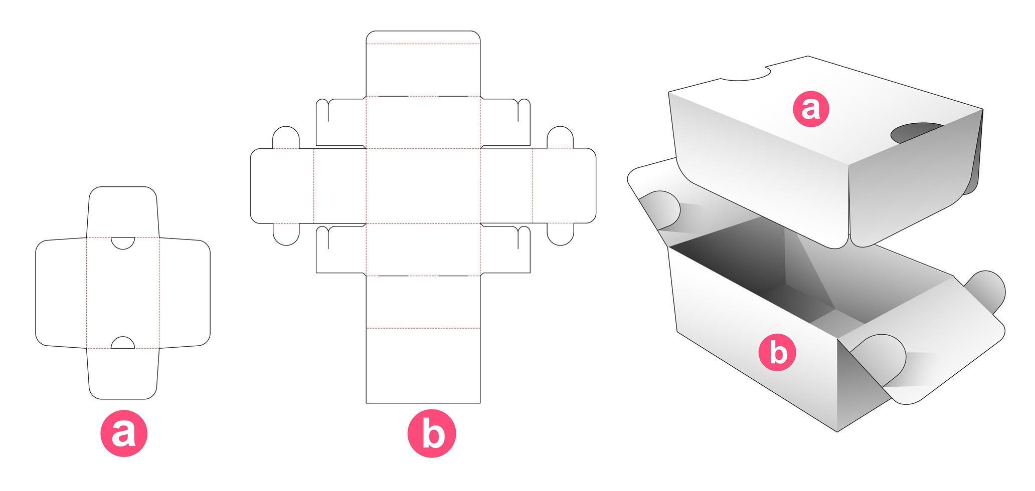 2 Flip Verpackungsbox mit Schild vektor