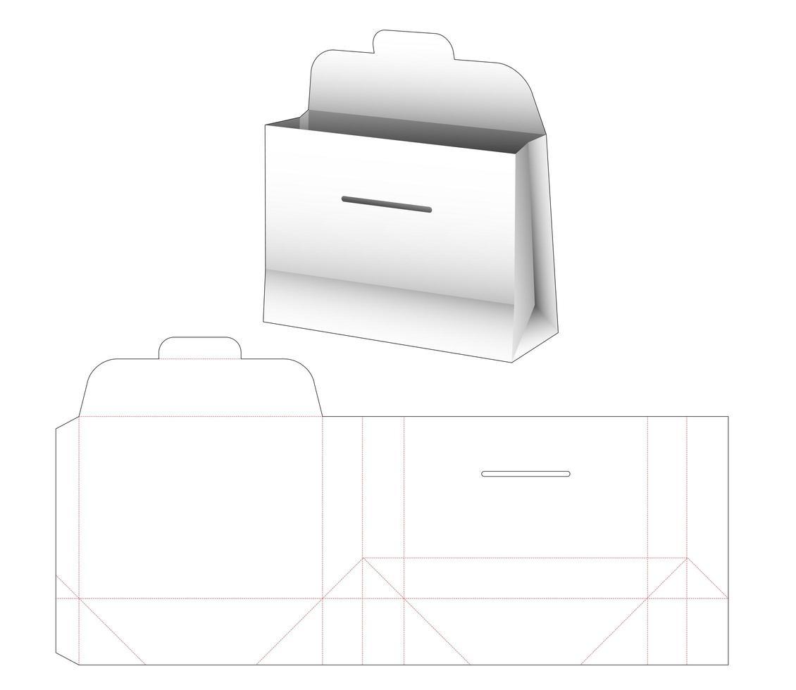 rechteckige Tasche aus Pappe vektor