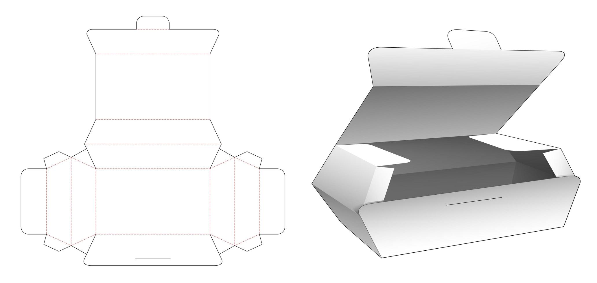 Flip Food Box vektor