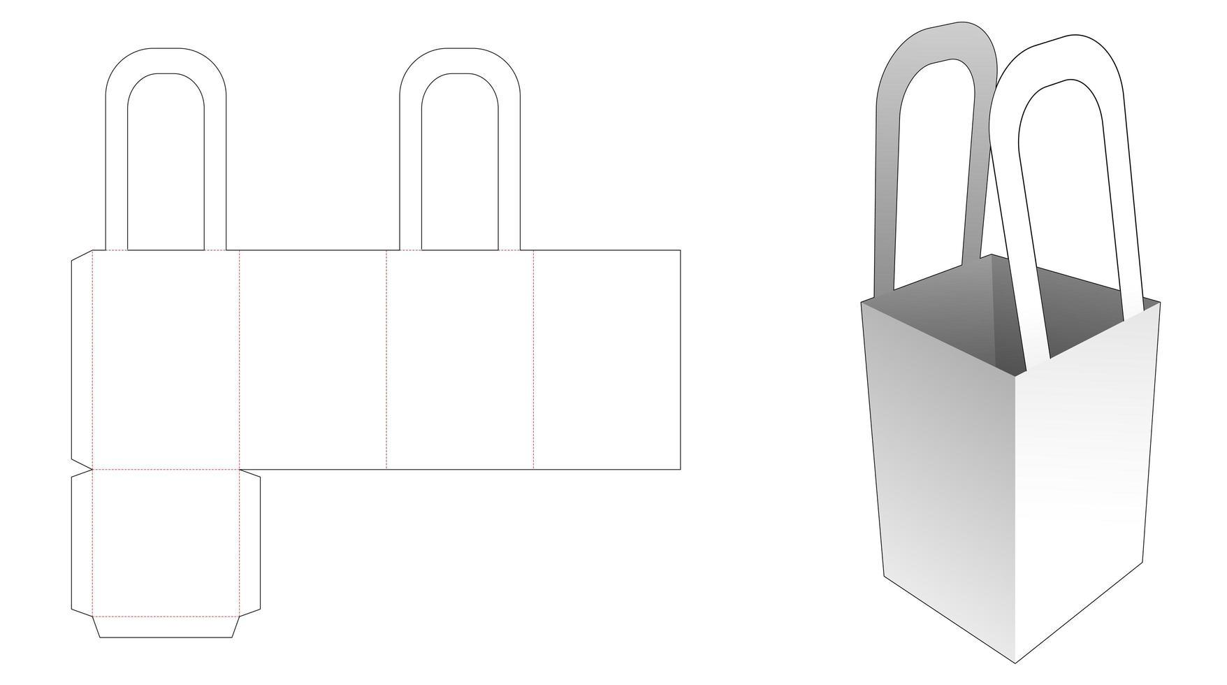 Popcornbehälter mit Griff vektor