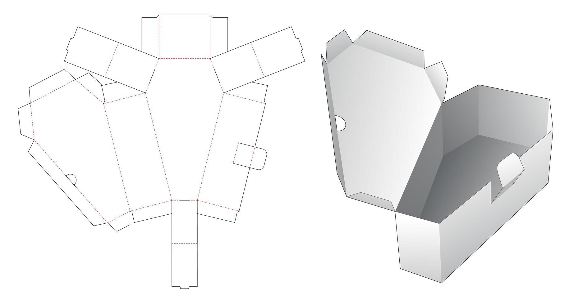 1 Stück Sargschachtel vektor