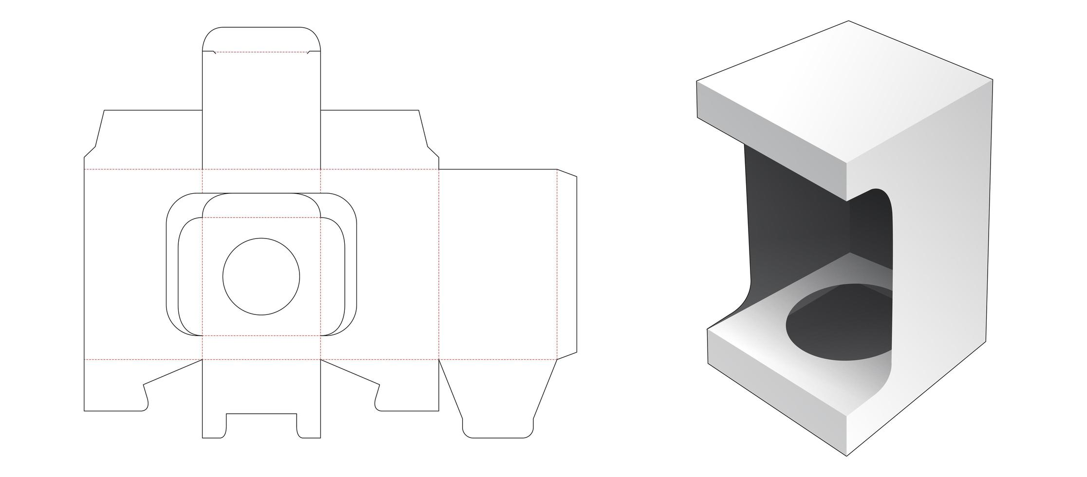 1 Stück Kosmetikbox mit Schaufenster vektor