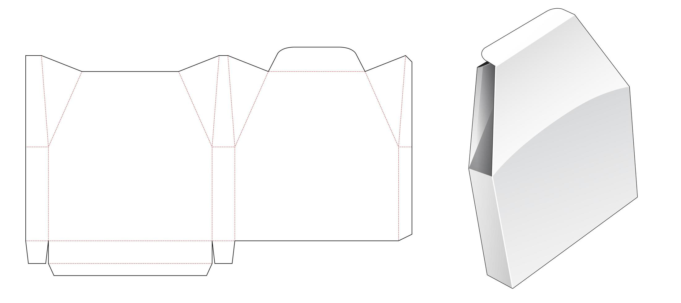 tenn unik formad förpackning vektor