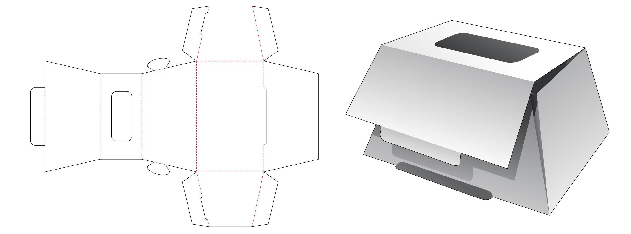 trapeziodformad bageri med toppfönster vektor