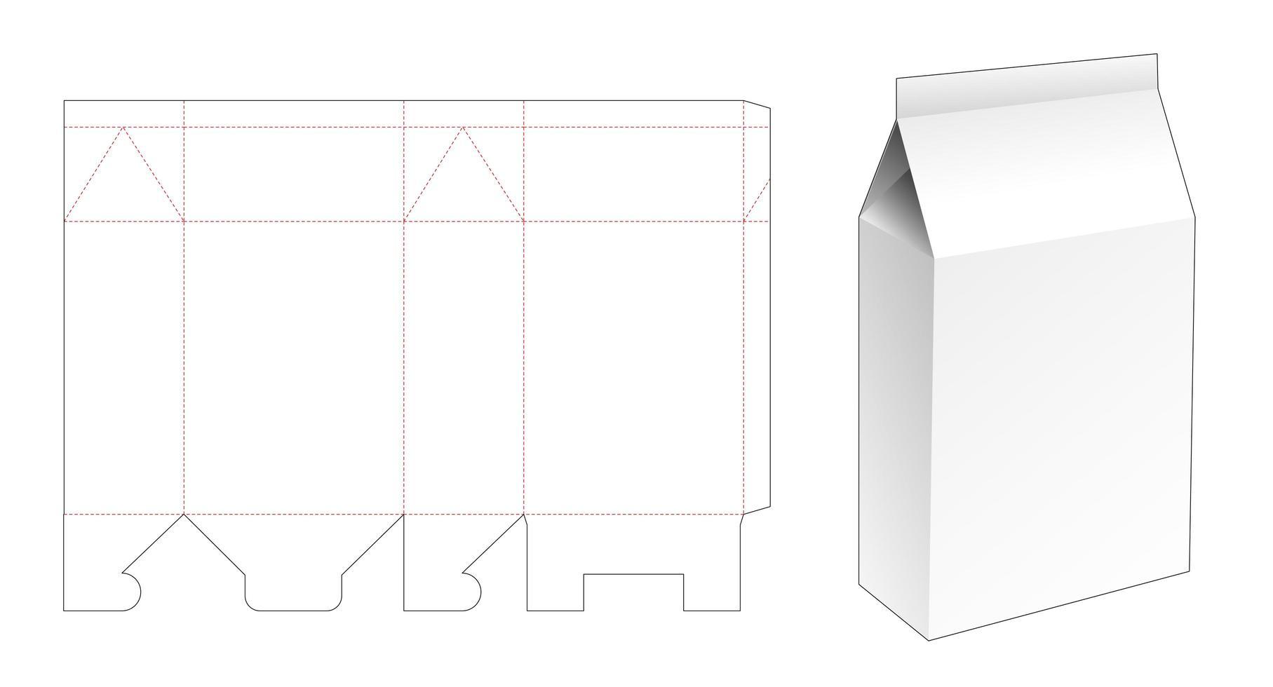 Waschpulververpackung vektor