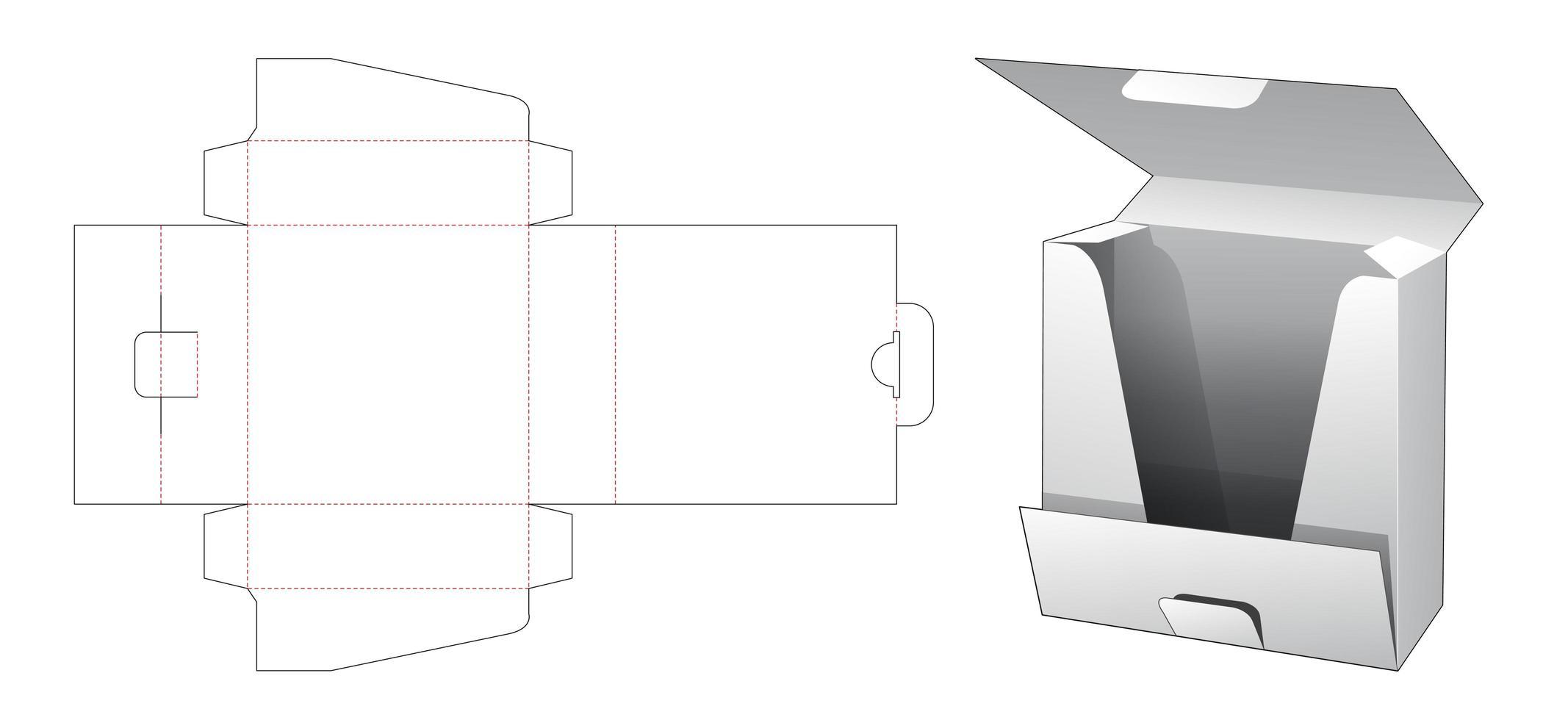1 st skjorta förpackningsbox vektor