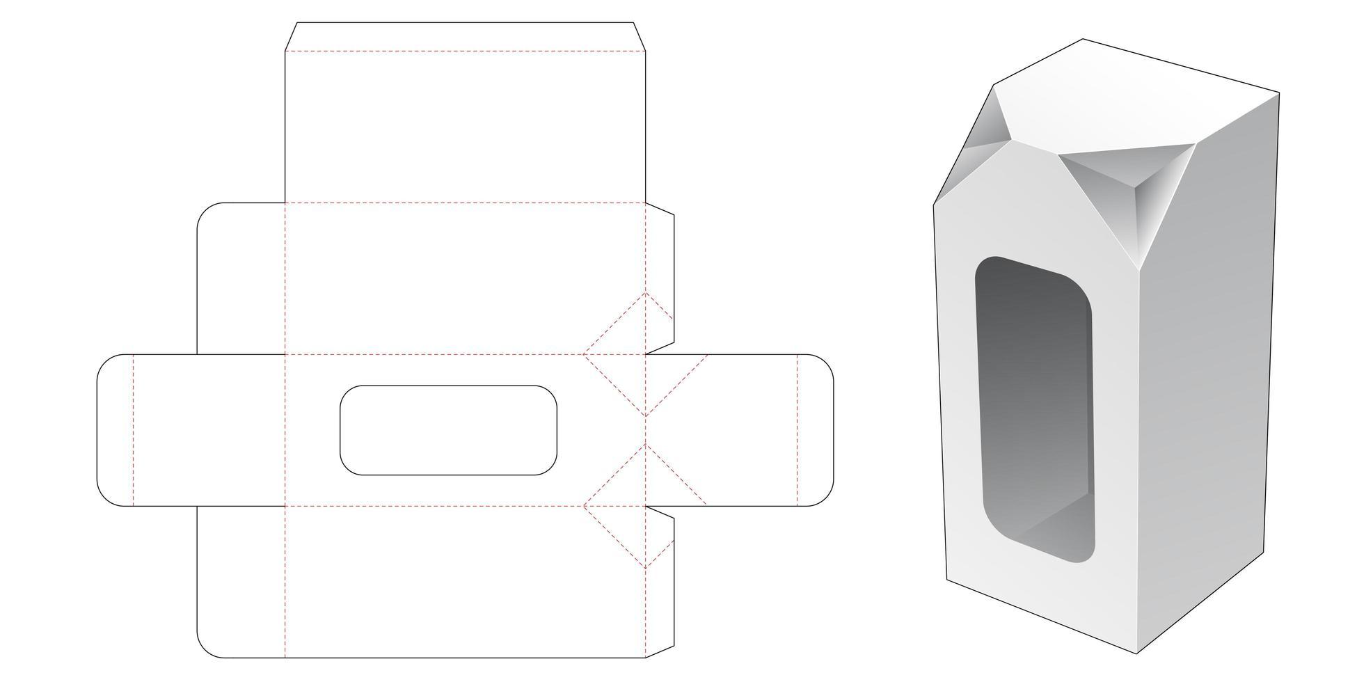 2 avfasade hörnhöga låda med fönster vektor