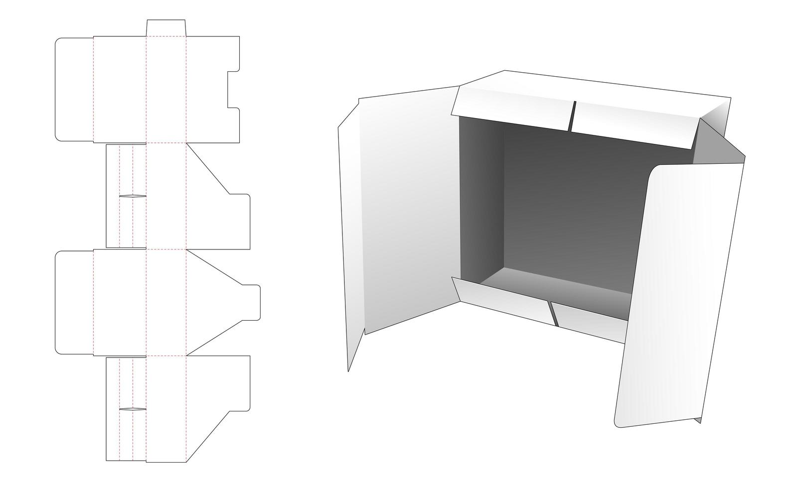 Klappenverpackungsbox vektor