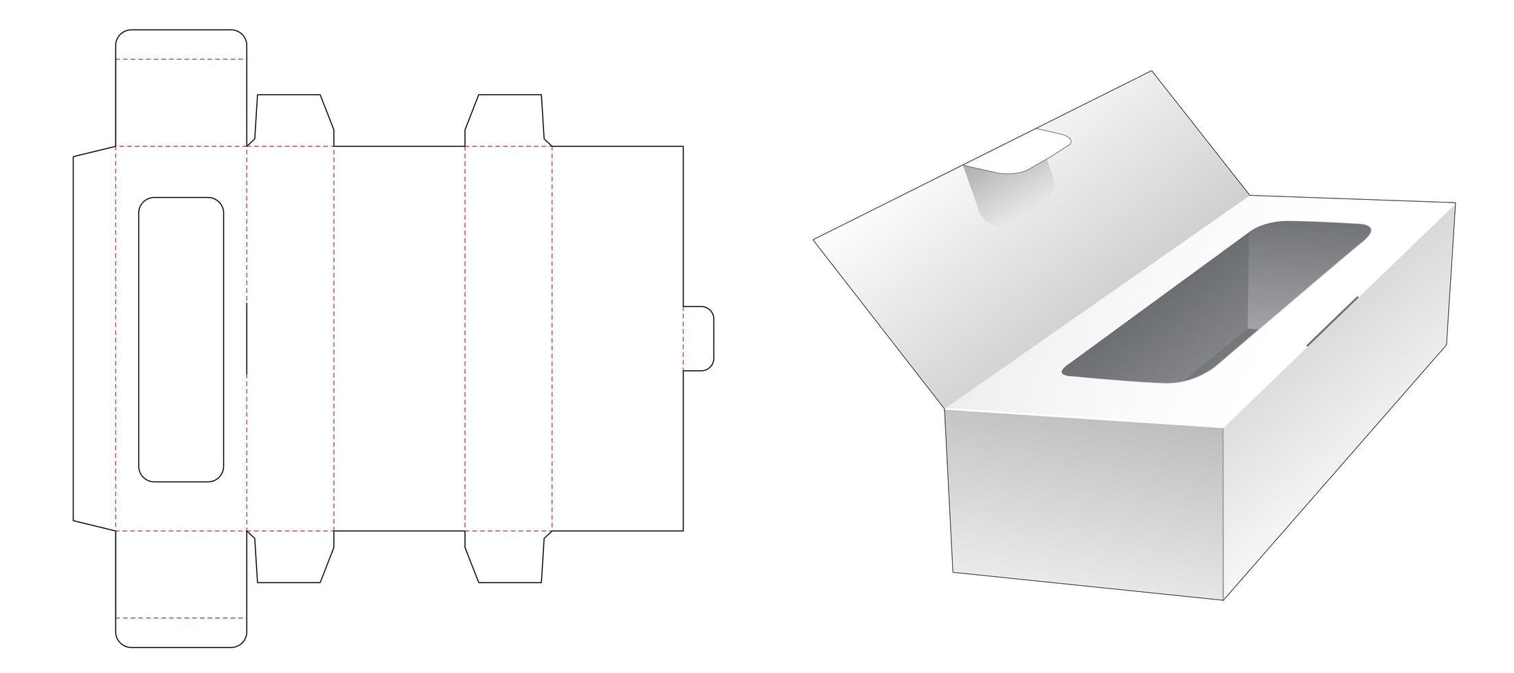 Taschentuchbox mit Klappdeckel vektor