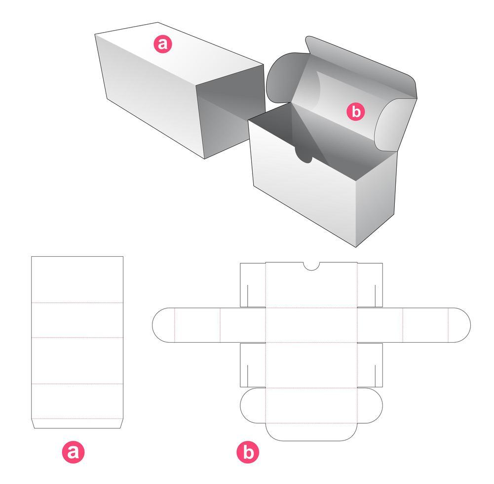 vändbox med lock vektor