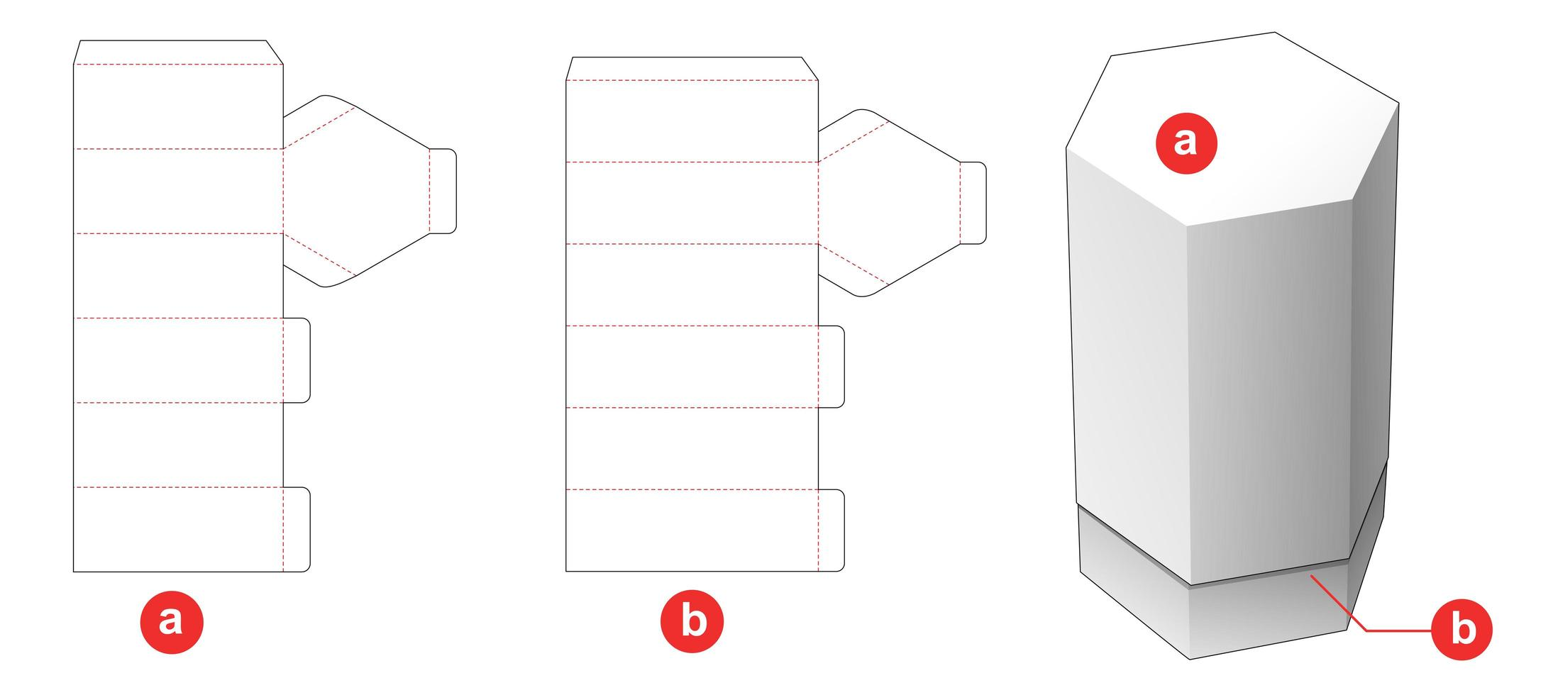 sexkantig flasklåda vektor