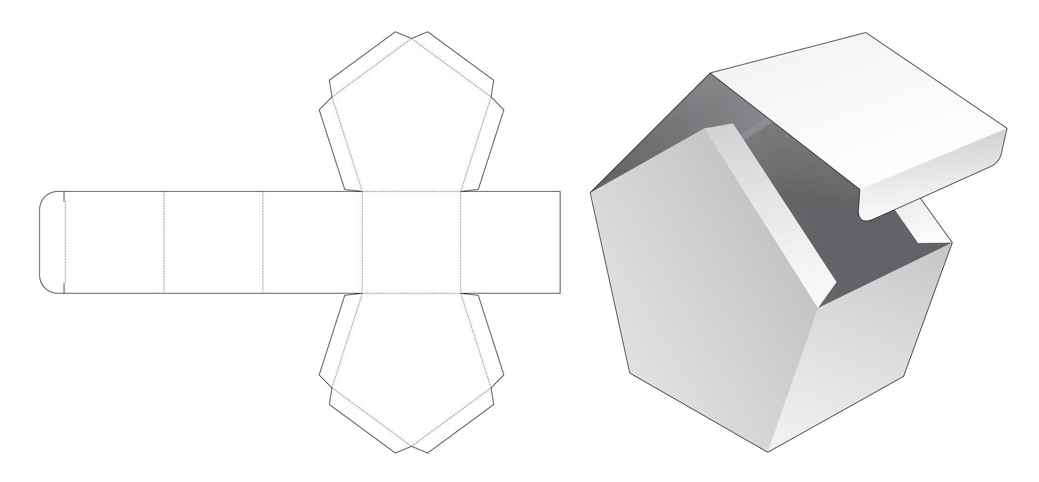 vänd topphusformad låda vektor