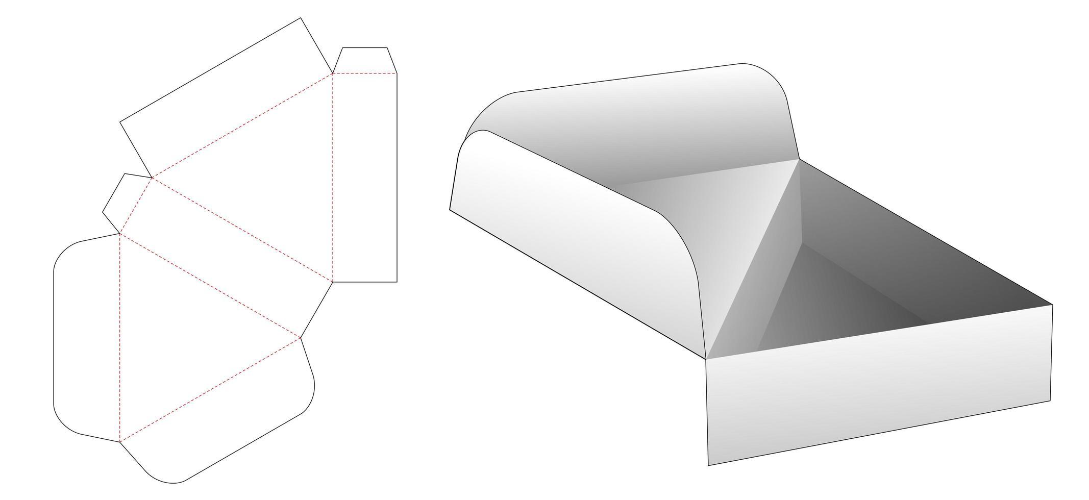 vänd triangulär låda vektor