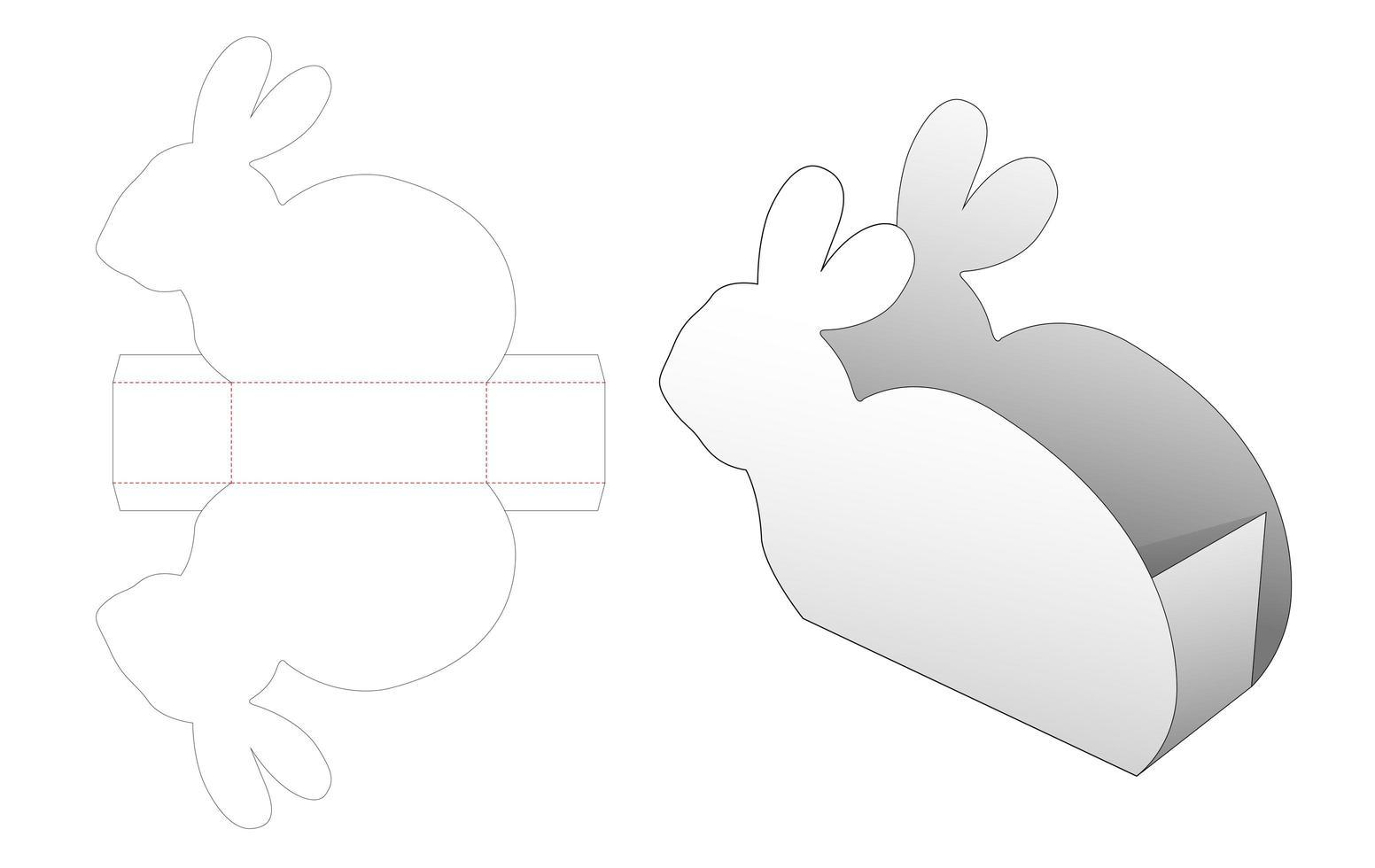kaninformad mellanmålbehållare vektor