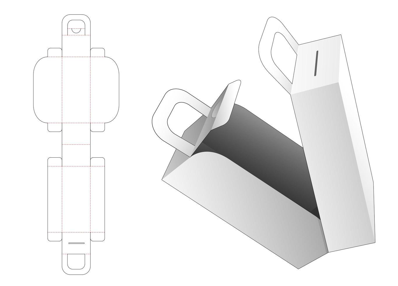 mittre öppningsbox med handtag vektor