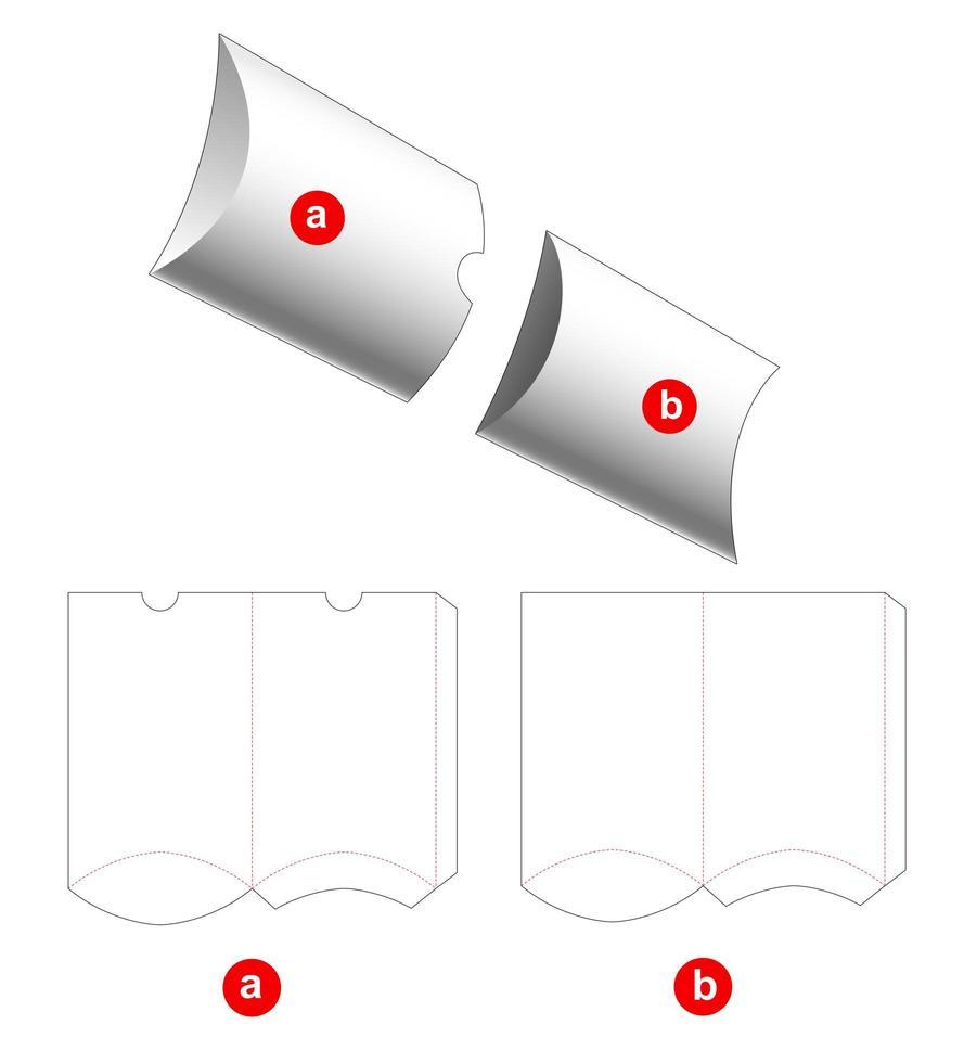 2 delar kuddeförpackning vektor