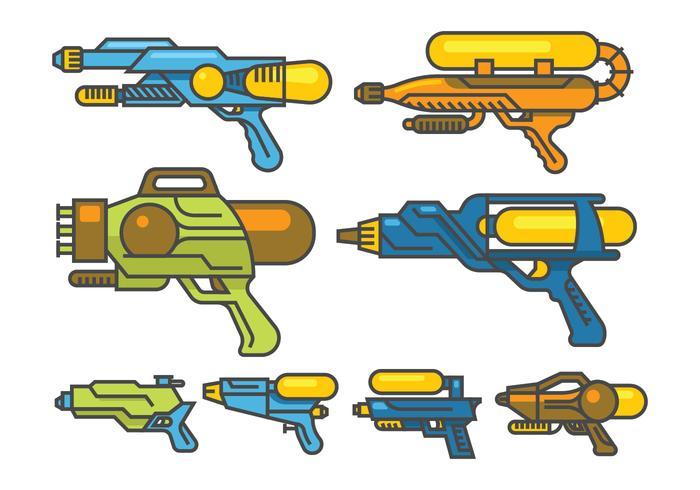 Wasserpistole Vektoren
