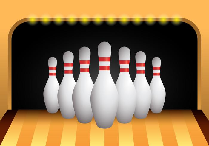 Bowlinghallvektor vektor