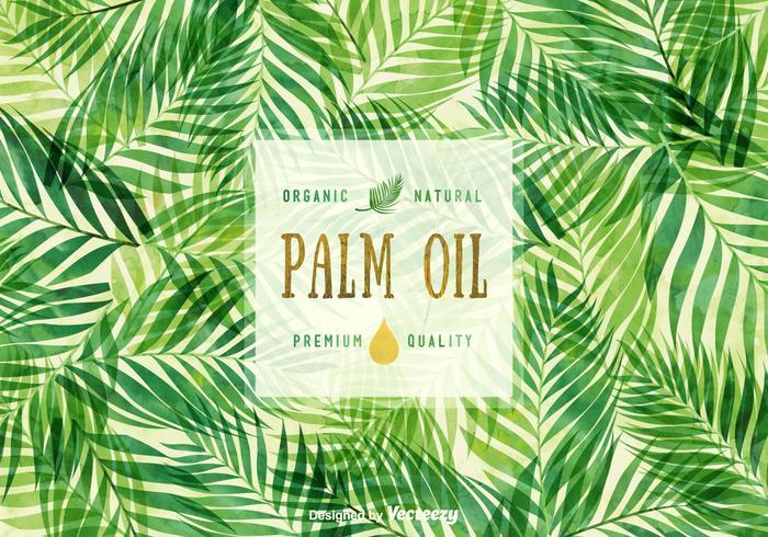 Free Palm Oil Vektor Hintergrund