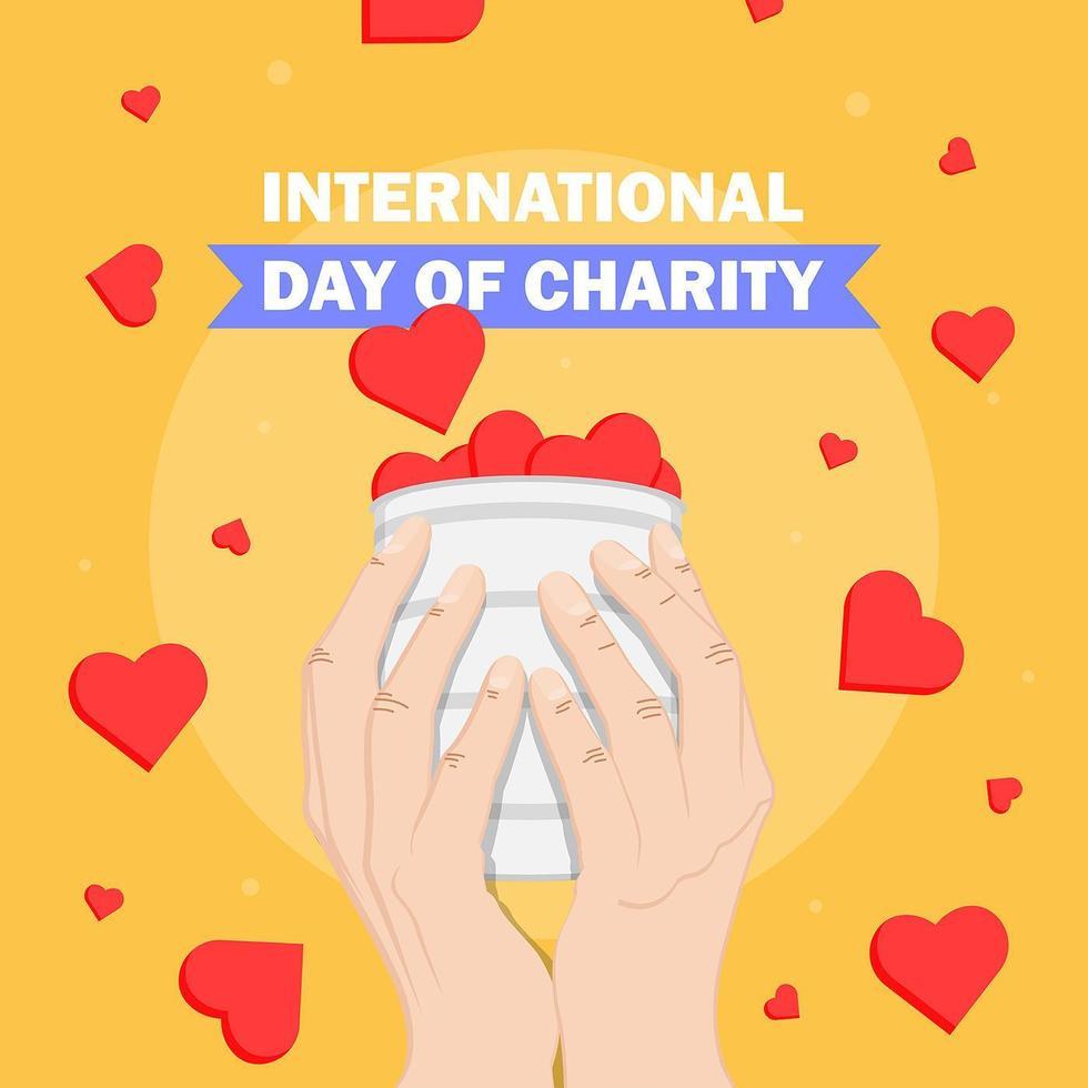 internationell välgörenhetsdag vektor