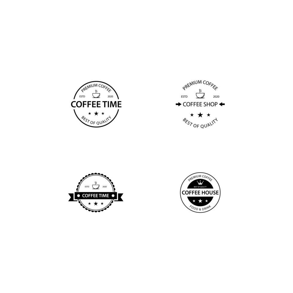 kafé logotyp mall pack vektor