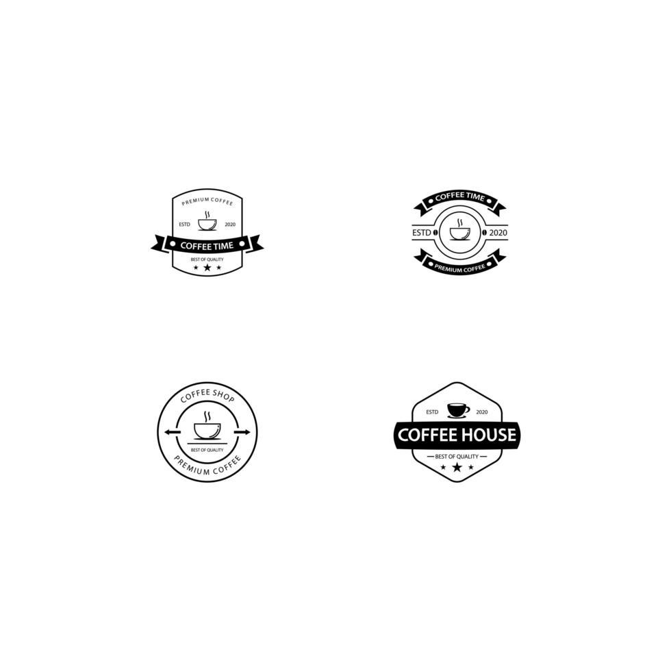 kaffe badge samling vektor