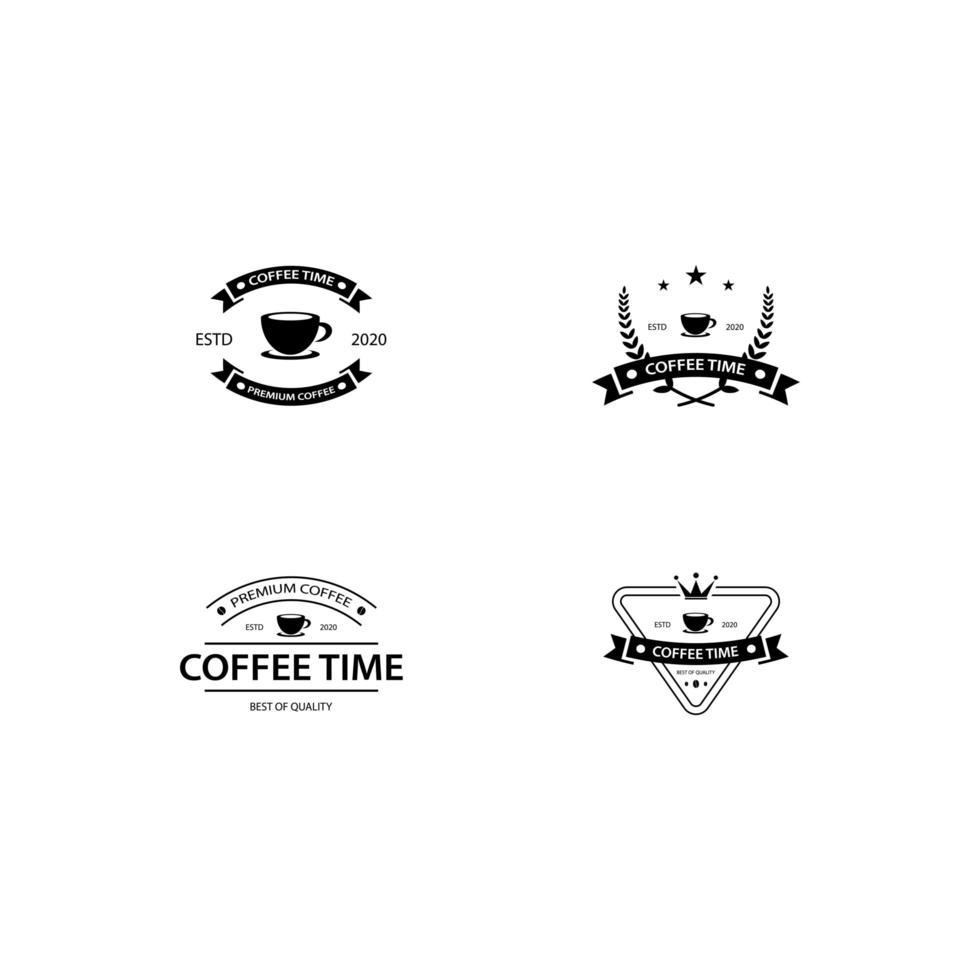 kaffe emblem set vektor