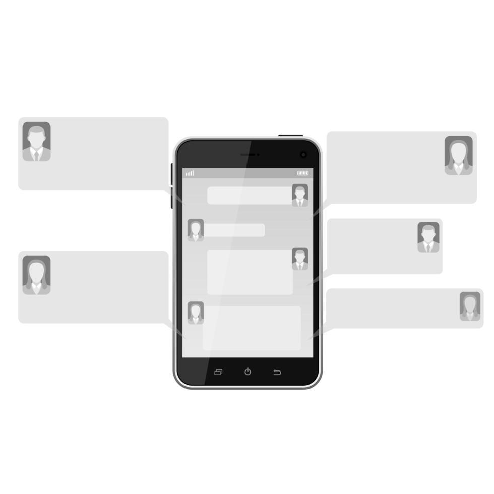 mobil textning isolerad vektor