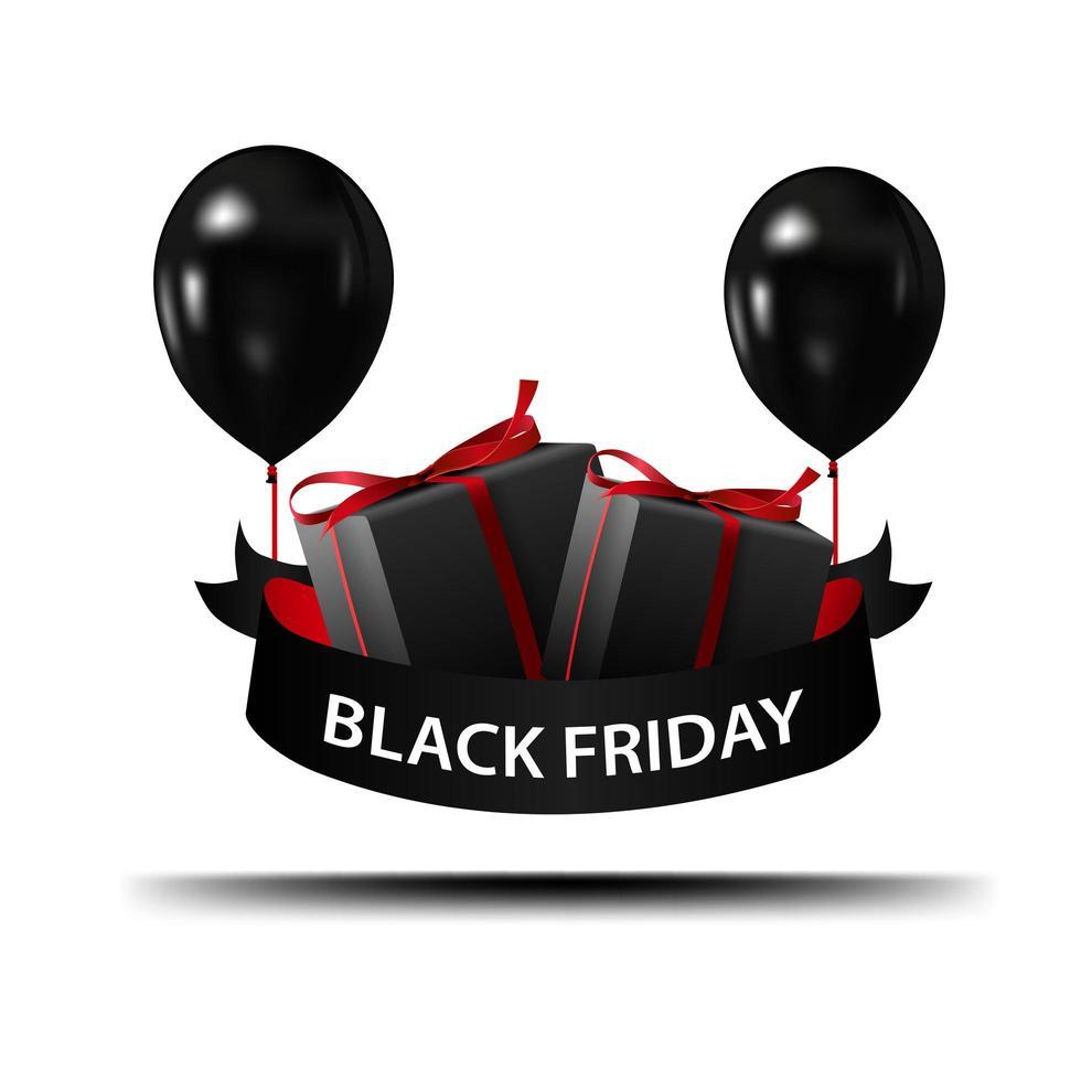 svart fredag tecken med skugga vektor
