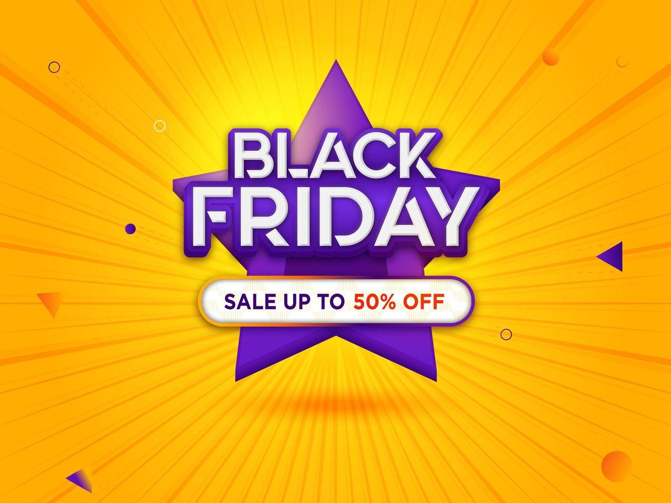 schwarzer Freitag Verkauf mit modernem Hintergrund vektor