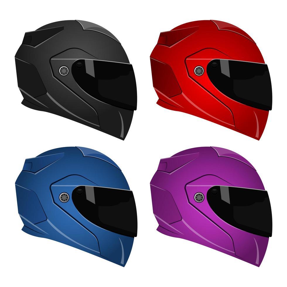 Motorradhelme isoliert vektor