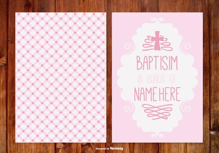 Ginham Baptisim Karte für Mädchen vektor