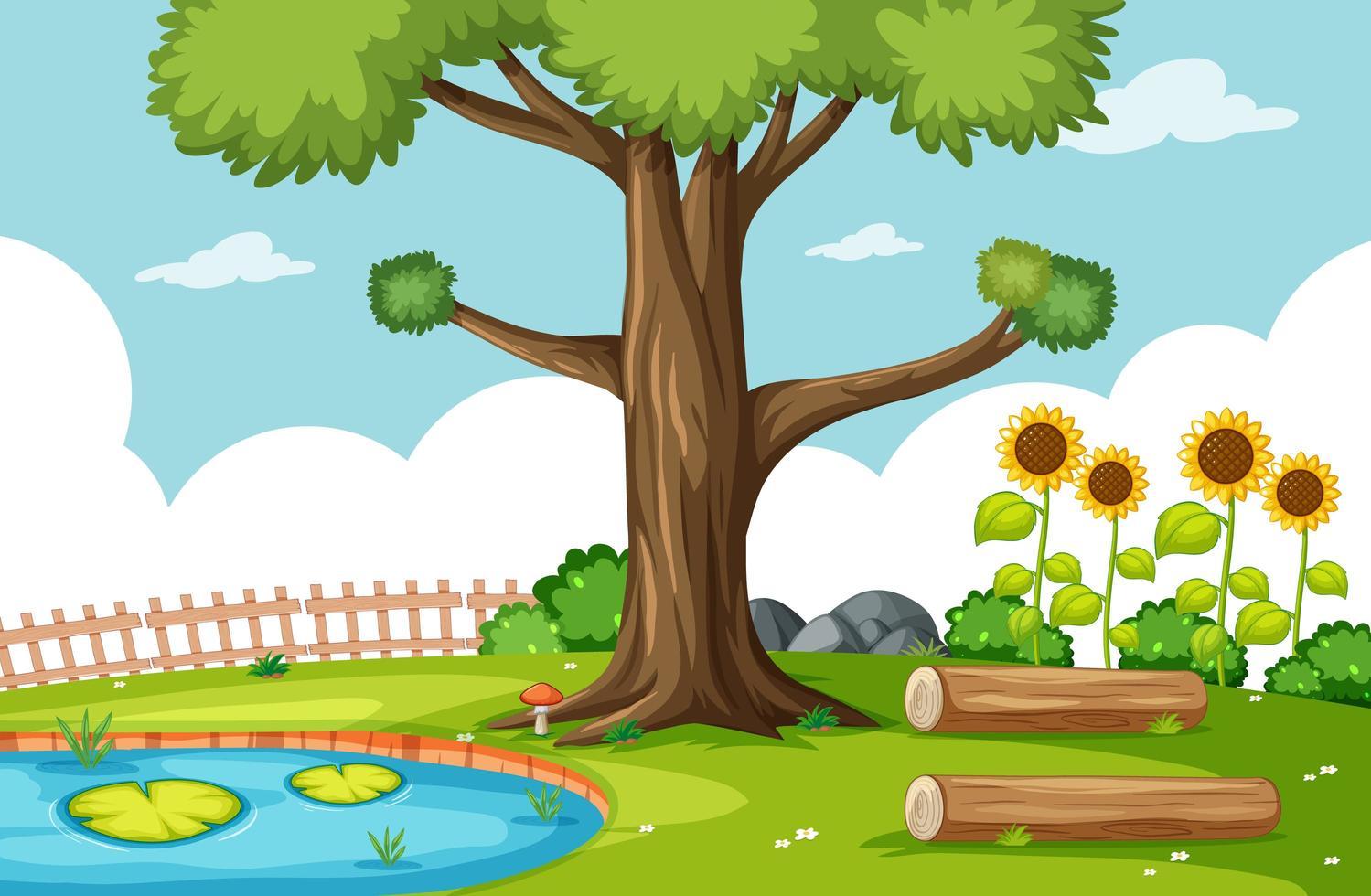 Naturparkszene mit Sumpf vektor