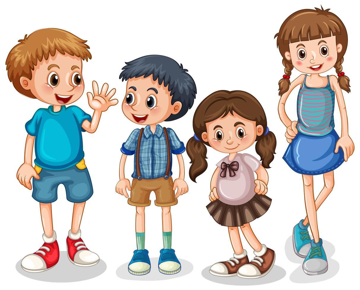 grupp små barn vektor