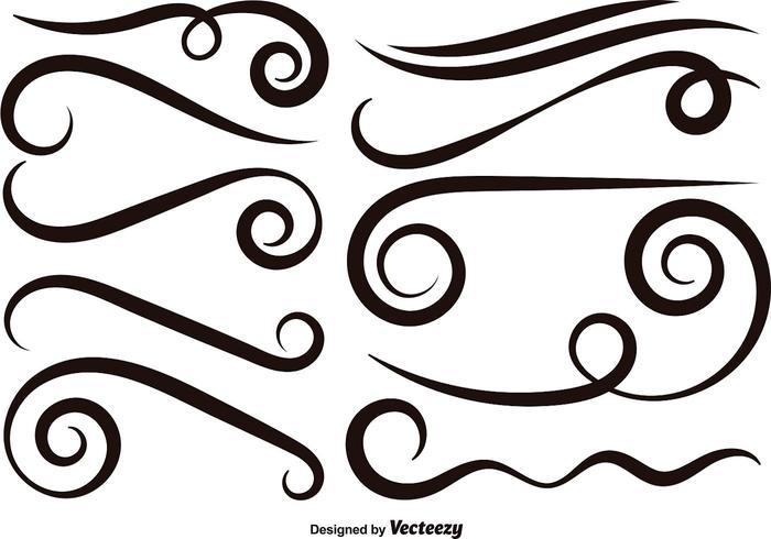 Swishes vector set