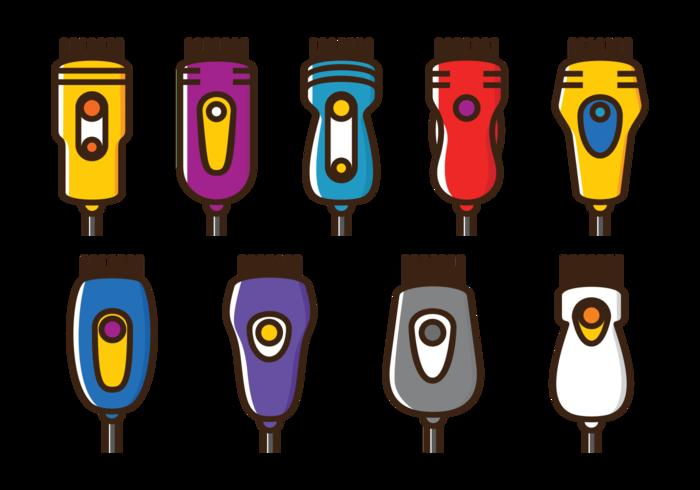 Vector Haarschneider Icons