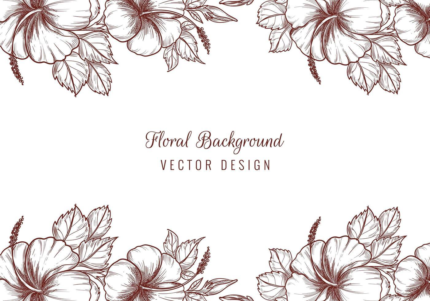 schöne dekorative Hochzeit Blumenränder vektor