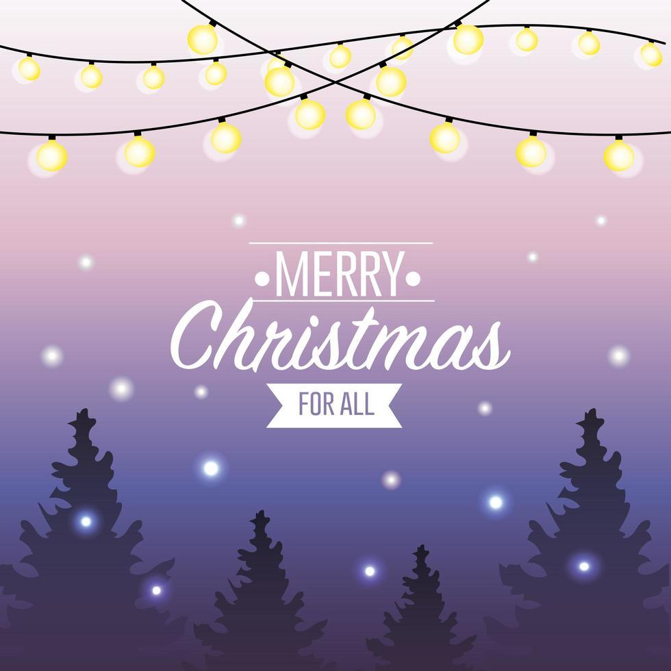 god jul semester affisch vektor