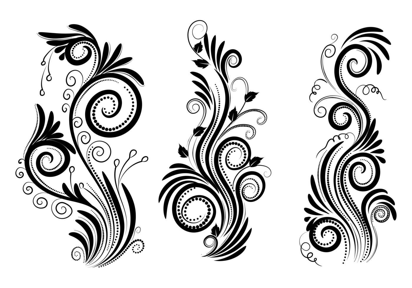 elegante dekorative Ziergegenstände vektor