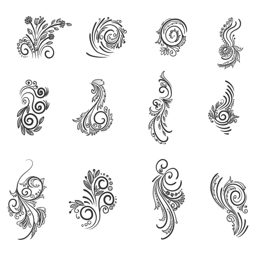 schöne kreative künstlerische Blumen vektor