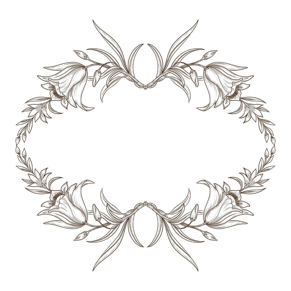Blumenrahmen Design vektor