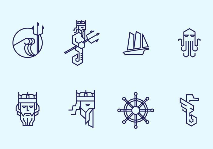 Poseidon icon vektor