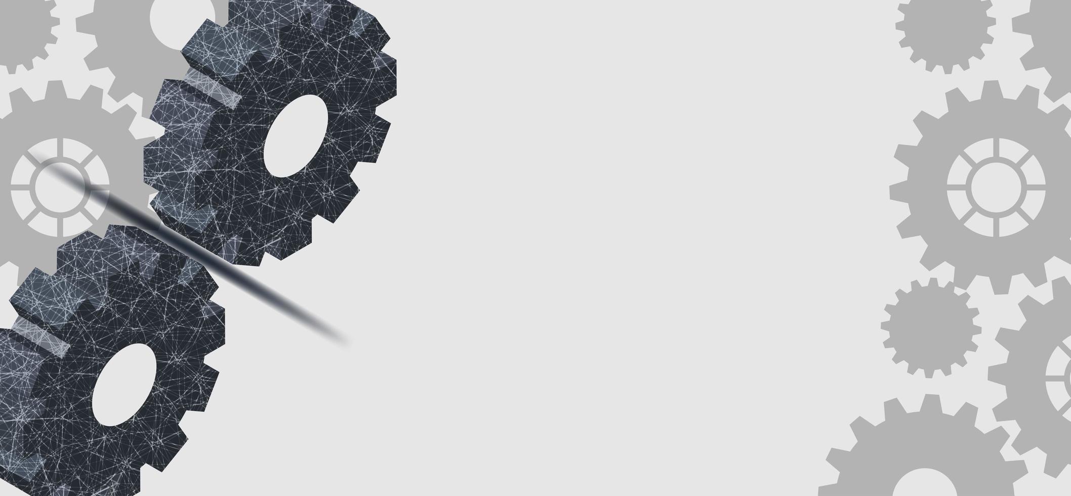 digital teknik och teknisk design med grå kugghjul vektor