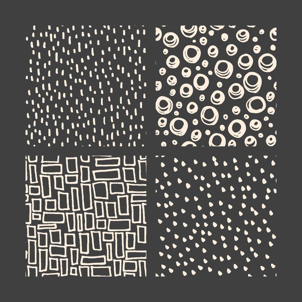 handritad doodle mönster samling vektor