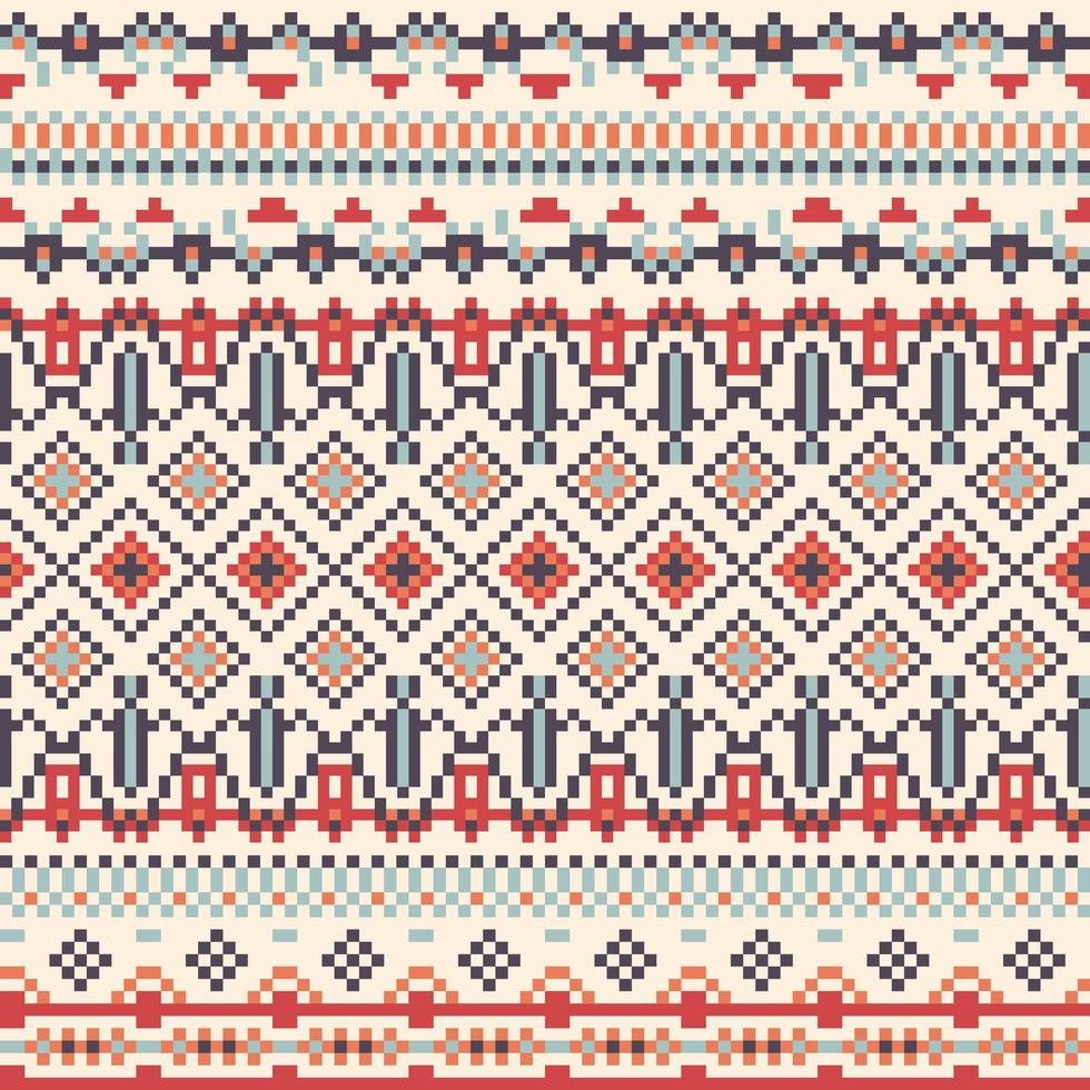 geometri stam pixel mönster vektor