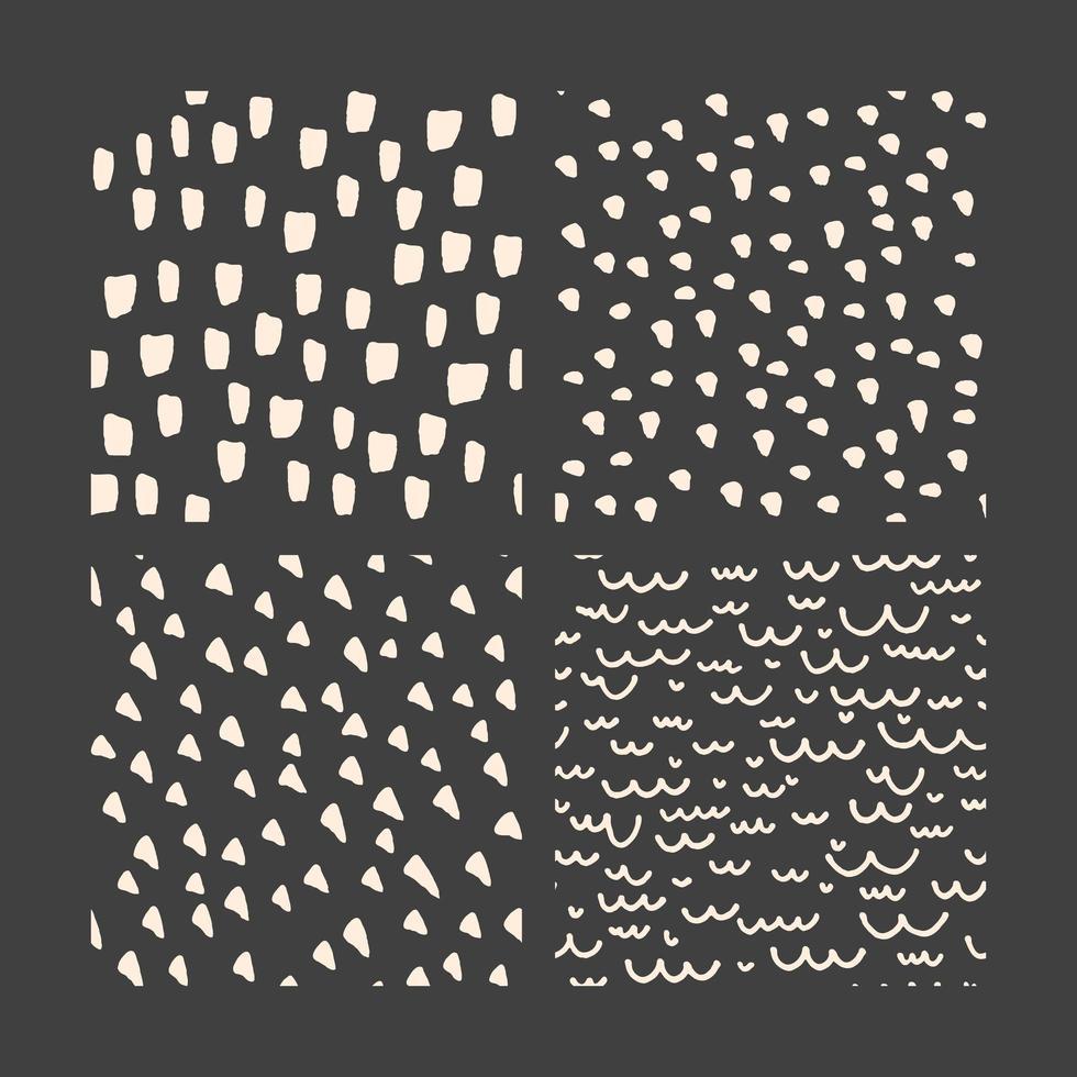 handritad doodle bläck mönster samling vektor